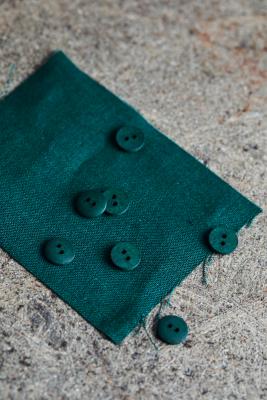 Curb Cotton Button 11 mm - Bottle Green