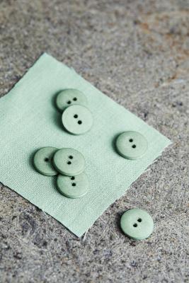 Curb Cotton Button 18 mm - Sage Green