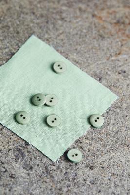 Curb Cotton Button 11 mm - Sage Green