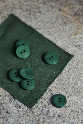 Curb Cotton Button 18 mm - Green Khaki