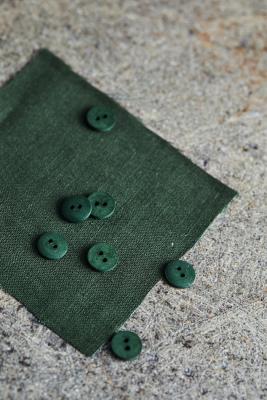 Curb Cotton Button 11 mm - Green Khaki