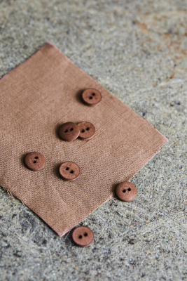 Curb Cotton Button 11 mm - Old Rose