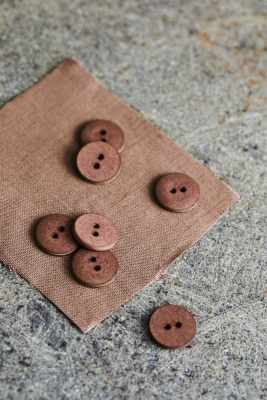 Curb Cotton Button 18 mm - Old Rose
