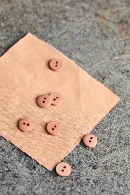 Curb Cotton Button 11 mm - Rose