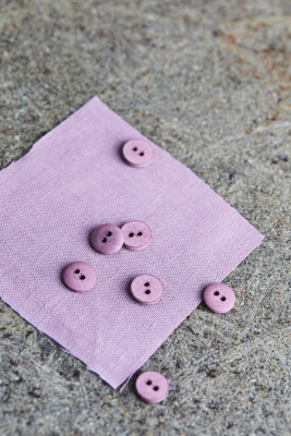 Curb Cotton Button 11 mm - Lilac