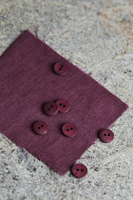 Curb Cotton Button 11 mm - Grape