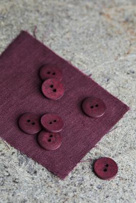 Curb Cotton Button 18 mm - Grape