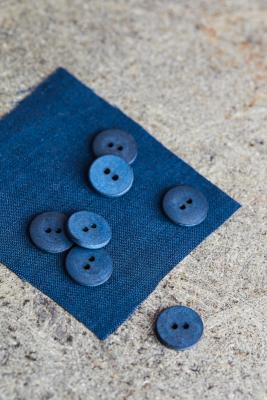 Curb Cotton Button 18 mm - Ocean