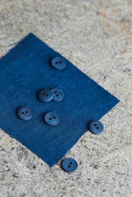 Curb Cotton Button 11 mm - Ocean