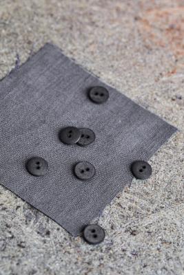 Curb Cotton Button 11 mm - Calm Grey
