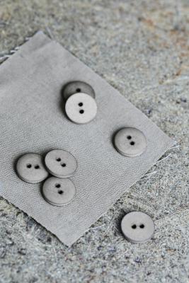 Curb Cotton Button 18 mm - Stone