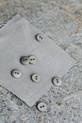 Curb Cotton Button 11 mm - Stone