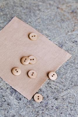 Curb Cotton Button 11 mm - Dune