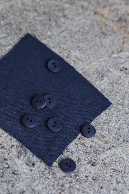 Curb Cotton Button 11 mm - Indigo Night