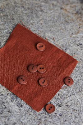 Curb Cotton Button 11 mm - Sienna