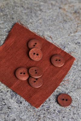 Curb Cotton Button 18 mm - Sienna