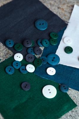 Curb Cotton Button 18 mm