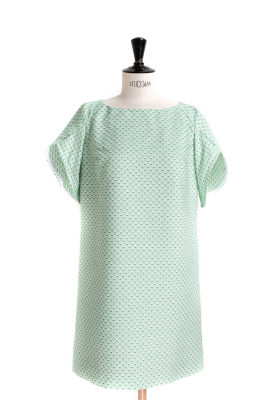 Le_9001 - Flared dress/top with tulip sleeves