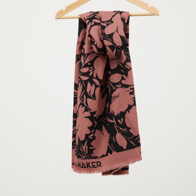 Floral Shade, Rosewood - Leia Crepe