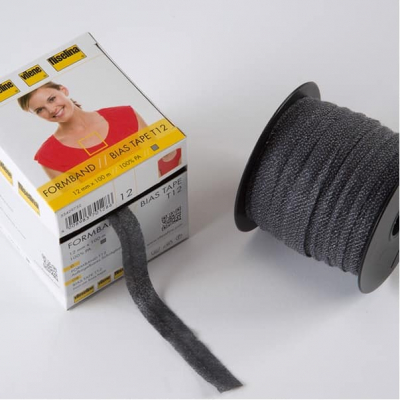 Fusible Bias Tape - Black