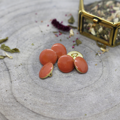 Gem Button, 12 mm - Chestnut