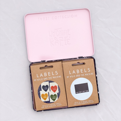 Label Collector's Tin