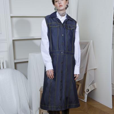 Le 802 A+B - Sleeveless Jeans-style jacket/coat