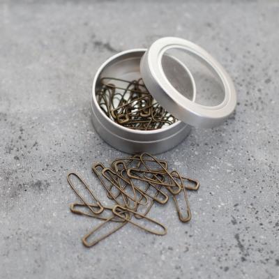 U Shaped Safety Pins - Antique