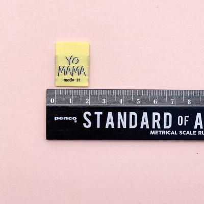 YO MAMA MADE IT - woven label
