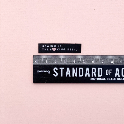 SEWING IS THE F**CKING BEST - woven label