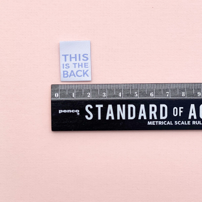 THIS IS THE BACK - woven label