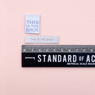 THIS IS THE BACK (duo pack) - woven label
