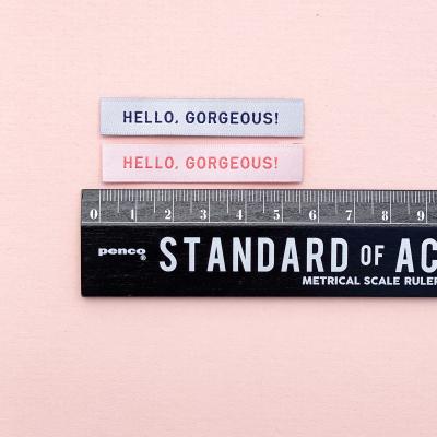 HELLO, GORGEOUS - woven label