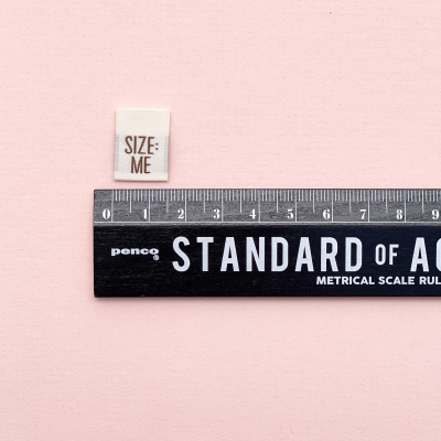 SIZE: ME/YOU - woven label
