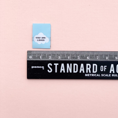 YOU ARE LOVED - woven label