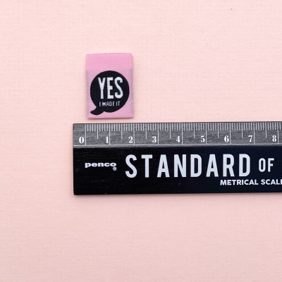 YES I MADE IT - woven label