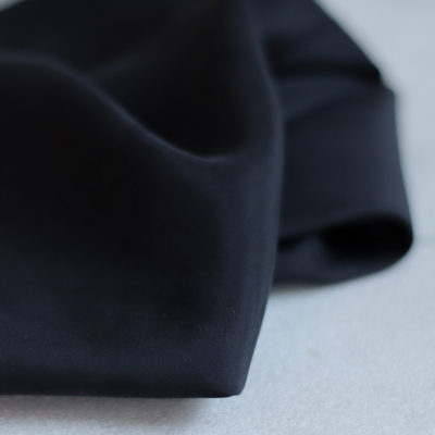 Silk lining (habotai) - Black