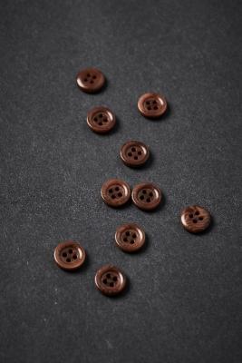 Frame Corozo Button 11 mm - Pecan