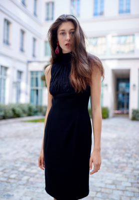 Le 925 - Sleeveless Empire-line Dress