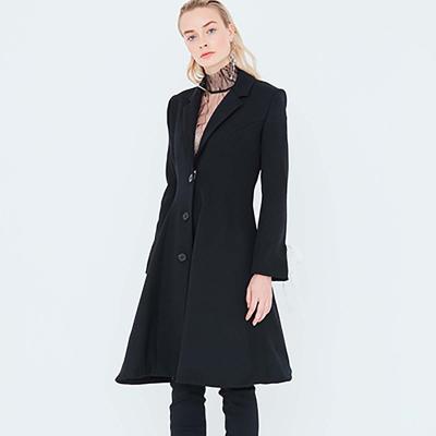 Le 102 - Long flared jacket with princess seams