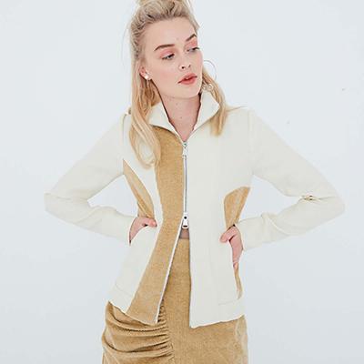 Le 205 - Asymmetric close-fitting sports jacket