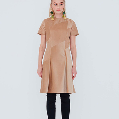 Le 901 - A-line dress with seam detailing
