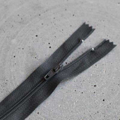 Zipper, spiral 4mm - Dark grey