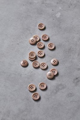 Dish Corozo Button 15 mm - Warm Sand