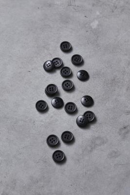 Dish Corozo Button 15 mm - Black
