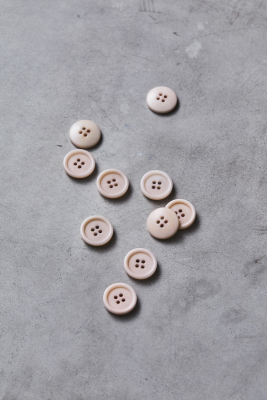 Dish Corozo Button 20 mm - Powder Pink