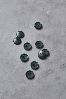 Dish Corozo Button 20 mm - Deep Green