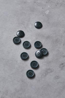 Dish Corozo Button 20 mm - Emerald