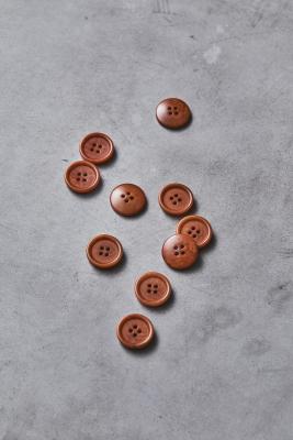 Dish Corozo Button 20 mm - Rust