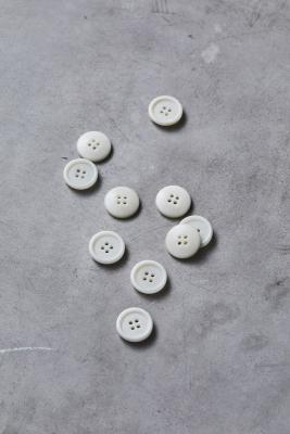 Dish Corozo Button 20 mm - Bright White